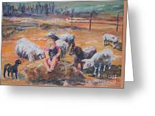Pasture Acquaintances Greeting Card
