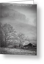 Pasture Field And Barn Greeting Card