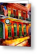 Pat O Briens Bar Greeting Card