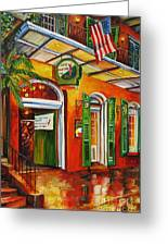 Pat O'brien's Bar On Bourbon Street Greeting Card