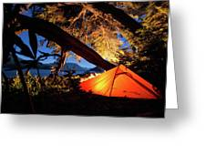 Patagonia Landscape Camping Greeting Card