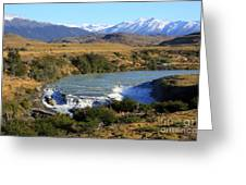 Patagonia Landscape Of Torres Del Paine National Park In Chile Greeting Card