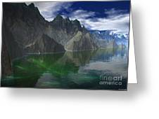 Patagonia Mountain Reflection Greeting Card
