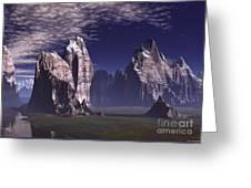 Patagonian Mountain  Greeting Card