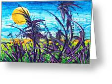 Patch Of Field Grass Greeting Card