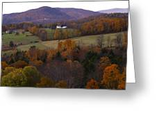 Patch Worked Mountains In Vermont Greeting Card