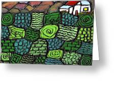 Patches Of Green Greeting Card