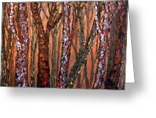 Patchwork Forest Greeting Card
