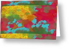 Patchwork Landscape Greeting Card