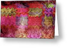 Patchwork Promises Greeting Card by Bonnie Bruno
