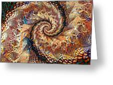Patchwork Spiral Greeting Card