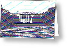 Patchwork White House Greeting Card