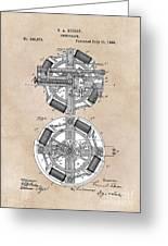 patent art Edison 1888 Phonograph Greeting Card