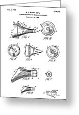 Patent Drawing For The 1962 Illuminating Means For Medical Instruments By W. C. More Etal Greeting Card