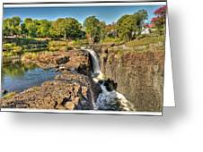 Paterson Water Falls Black And White Greeting Card