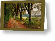 Path Along The Horses Meadow On The Farm Lovedayvale L A S Greeting Card
