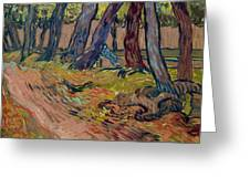 Path In The Garden Of The Asylum, By Vincent Van Gogh, 1889, Kro Greeting Card