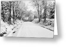 Path In The Snow Greeting Card