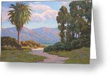 Path Into The Valley Greeting Card