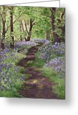 Path Through The Bluebells Greeting Card