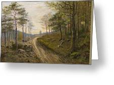 Path Through The Forest Greeting Card