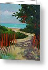 Path To Delray Beach 1 Greeting Card