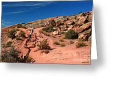 Path To Double O Arch Arches National Park Greeting Card