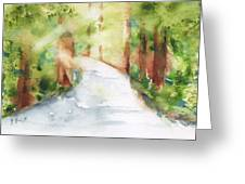 Path To Light Watercolor Greeting Card