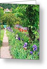 Path To Monet's House Greeting Card