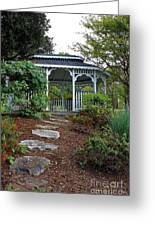 Path To The Gazebo Greeting Card