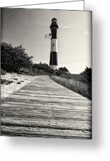 Path To The Lighthouse Greeting Card