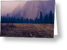 Pathway During First Snow In Yosemite Valley Greeting Card by Priya Ghose