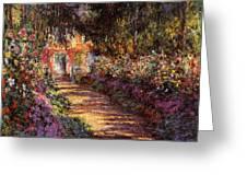 Pathway In Monet's Garden Greeting Card