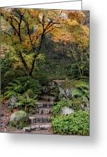 Pathway Into Fall Greeting Card
