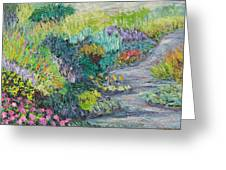Pathway Of Flowers Greeting Card