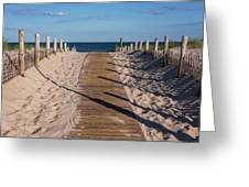 Pathway To Beach Seaside New Jersey Greeting Card