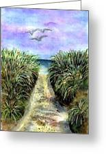 Pathway To The Shore Greeting Card