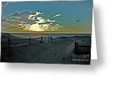 Pathway To The Sunrise Greeting Card