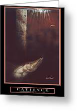 Patience Greeting Card by Kevin Brant