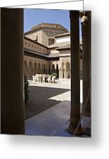 Patio De Los Leones Nasrid Palaces Alhambra Granada Greeting Card