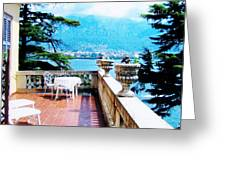 Patio In Italy Greeting Card