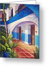 Patio In Merida Greeting Card
