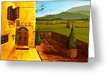 Patio In Paradise Greeting Card