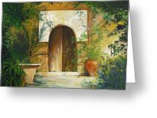 Patio Mallorquin Greeting Card