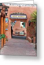 Patio Market Greeting Card