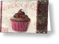 Patisserie Chocolate Cupcake Greeting Card