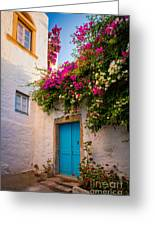 Patmos Bougainvillea Greeting Card