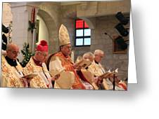 Patriarch Fouad Twal Greeting Card