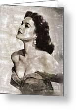 Patricia Medina, Vintage Actress Greeting Card