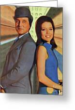Patrick Macnee And Diana Rigg, The Avengers Greeting Card